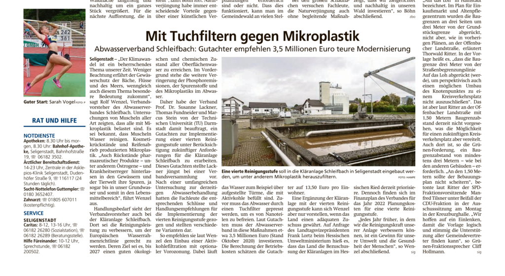Mit Tuchfilter gegen Mikroplastik - Offenbach Post 29.01.2021